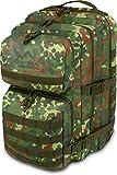 normani US Assault Pack Large, Rucksack, 50 Liter Farbe Flecktarn