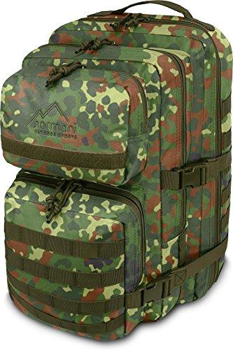 normani US Assault Cooper Pack Large Rucksack im Military Style Farbe Flecktarn Größe 30 Liter