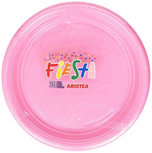 Fiesta - Piatti, In Plastica, colore Rosa -   30 Pezzi