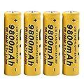 HKFV 4 Stücke 3,7 V 18650 9800 mah Li-Ion Akku für LED Taschenlampe GTF 4 18650mAh Batterien 3.7V 18650 9900mah Li-ion Rechargeable Batteries von HKFV-9121