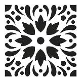 Artemio Pochoir Décoratif Home Deco 15x15 cm Motif Carreaux de Ciment Modèle 4