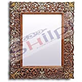 Shilpi Wooden & Traditional Design Cosgrove Mirror Frame / Beautiful Hand Carving Mirror Frame