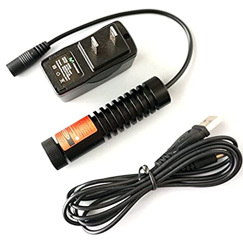 High Power Laser 635/638nm 700mw Adjusted Orange Red Diode Dot Laser Module /22x90mm + Adapter 5V