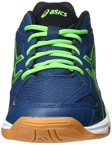 Asics Unisex-Kinder Gel-Flare 5 Gs Traillaufschuhe Blau (POSEIDON/BLACK/GREEN GEKKO)