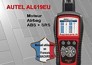 Diagnostic auto multimarque Autel AL619 EU logiciel et mode d'emploi en francais