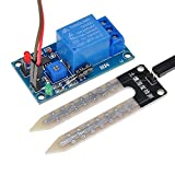 Lysignal 12V Soil Moisture Sensor Relay Control Module Soil Humidity Sensor Module