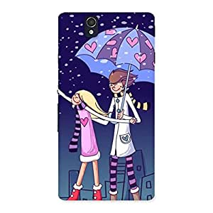 Enticing Anime Couple Multicolor Back Case Cover for Sony Xperia Z