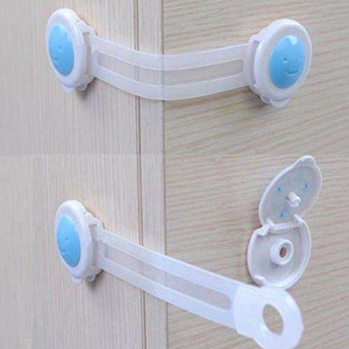 Preisvergleich Produktbild Seguryy Türsicherung / Schubladensicherung für Schrank / Kleiderschrank, Kunststoff, für mehr Sicherheit, für Kleinkinder / Babys, 16cm, 1Stück