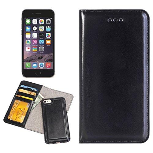 Phone case & Hülle Für iPhone 6 / 6s, 2 in 1 Horizontale Flip Leder Tasche mit abtrennbaren magnetischen Rückseite Cover Shell & Crad Slots & Wallet & Photo Frame ( Color : Brown ) Black