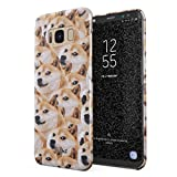 Glitbit Hülle Kompatibel mit Samsung Galaxy S8 Doge Pattern Shiba Inu Akita Hund Welpe Cute Dog Puppy Doggo Dünn Robus