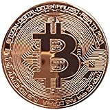 HLHN Bitcoin Coin, Copper Plated BTC Coin Art Collectible Gift Home Decoration Physical (Copper, 1Pcs)