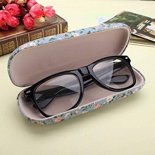 8m rentabilit?t floral sonnenbrille schwer brillen fall eyewear beschützer box beutel tasche hellblau