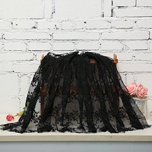 KING DO WAY 1 Stueck Spitzen serie DIY Lace Trim handgefertigte tuch baumwolle haushalt Schwarz 1.42yards
