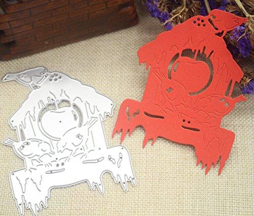 (SULIFORSULIFOR Prägestempel Happy Halloween Metal Cutting Dies Schablonen Scrapbooking Prägung DIY Handwerk)