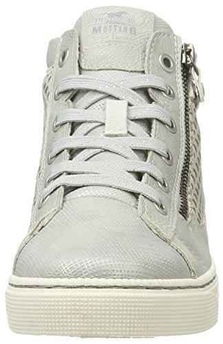 Mustang 1246-501-21, Sneakers Hautes Femme Argent (21 Silber)