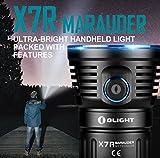 Olight® X7R Marauder aufladbar LED Taschenlampe 12000 Lumen mit 3 X Cree XHP70 CW LED - inkl. 1 x eingebaute 4 x 3000mAh 18650 Akkus - Ultra hell und kompakt - 3