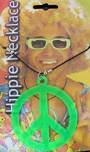 Neue Erwachsene Peace Zeichen Hippie-Halskette Anhänger Halskette Kostüm-Zubehör