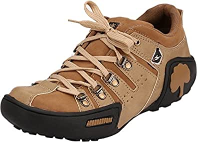 Afrojack Men's Beige Synthetic Leather Casual Shoes - 10