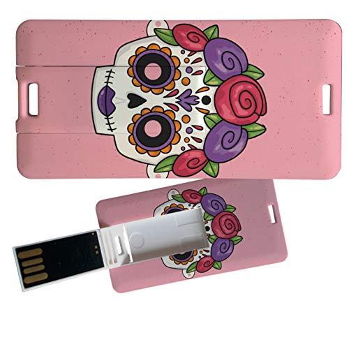 My Custom Style Pen Drive USB Kollektion #Halloween_A#4/8/16 Gb Mini Card_4 GB Halloween-Teschio_1