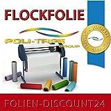 (EUR 25,80 / Quadratmeter) FLOCKFOLIE TbT 200 RED BÜGELFOLIE TOP ! Preistip Flex Flock 1 M x 50 cm