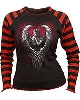 Spiral - Women - ANGEL HEART - Print Stripe Top Black