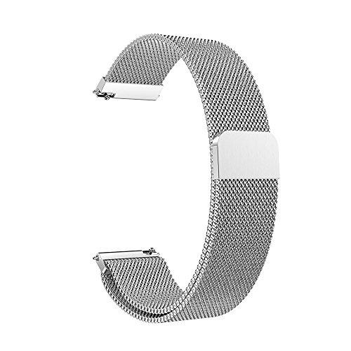 für Garmin vivoactive 3 Uhrenarmband,Hongtianyuan Metallarmband Ersatzarmbänder Ersatzarmband Erweiterbar Armband für Garmin vivoactive 3 (Silber) - Bänder Herren-erweiterbar-uhr