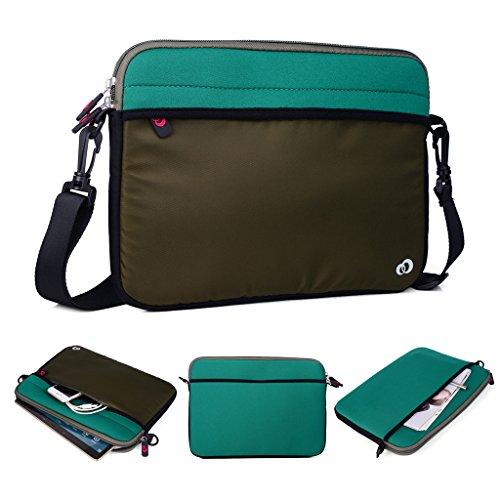Kroo Tablet/Laptop Hülle Sleeve Case mit Schultergurt für Allview Viva H1001LTE grün grün