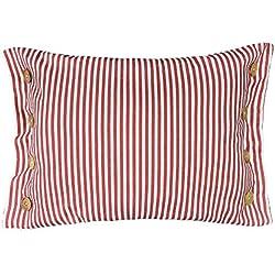 King Rose fundas de cojín rayas botones lino manta decorativa fundas de almohada Home sofá cama coche Decor 16 x 24 pulgadas