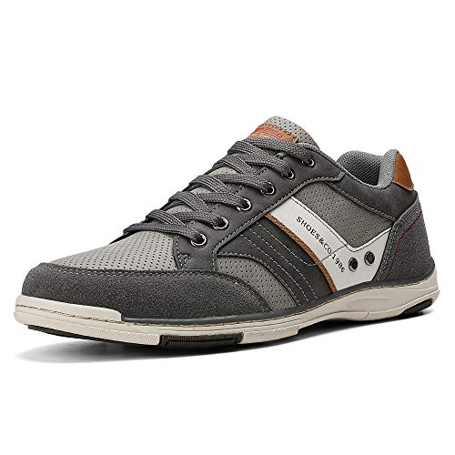 AX BOXING Freizeitschuhe Herren Berufsschuhe Sneaker Wanderschuhe Trainers (45 EU, A9099-Grau) -