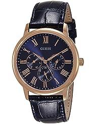 Guess Herren-Armbanduhr Analog Quarz Leder W0496G4