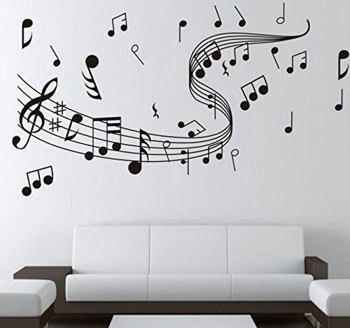 Preisvergleich Produktbild Wandaufkleber/Wandtattoo/Wandsticker CIDBEST® Kreative musikalische Note DIY dekorative Wandaufkleber PVC abnehmbare Sofa Hintergrund Dekoration Aufkleber Wandaufkleber