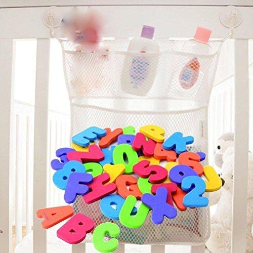 habet Baby Badespielzeug Schaumstoff-Buchstaben Zahlen mit Badespielzeug Lagerung Organizer Tasche (Buchstabe Y-aktivitäten)