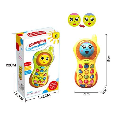 Baby-Telefon-Spielzeug 3-12 Monate, Baby-Telefon-Spielzeug 6-9 Monat altes Spielzeug-Geschenk für Baby-Mädchen-Jungen-Spielzeug 9-18 Monate Kleinkinder-Baby-Spielzeug-Telefon für 1 2 3 Jahre Olds