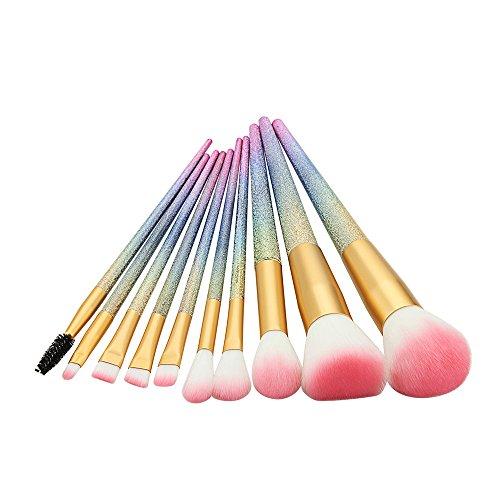 AKAAYUKO 10pcs Kit Professionnel Brosse Makeup Blush Fondation Pinceau Poudre Cosmétique -Gradient