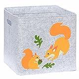 Aufbewahrungskorb Kinder Zimmer/Spielzeug Korb LuckySign-Care (Eichhörnchen)