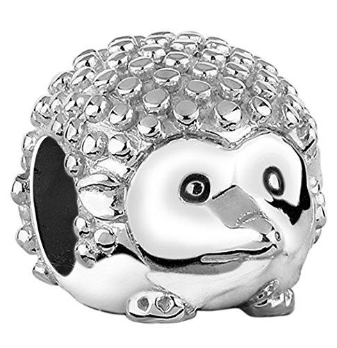 Nenalina Igel Bead hochglänzend in 925 Sterling Silber, auch kompatibel für Pandora Beads Armbänder, 719069-000 -