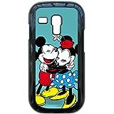 I8190 caso de Disney Mickey Mouse Minnie Mouse C3Y77E3FL funda Samsung Galaxy S3 Mini funda P163NY negro