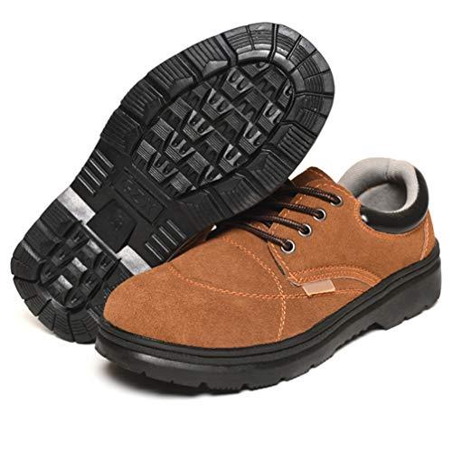 XQJJT Sicherheitsschuhe Herren Warm Gefütterte Winterschuhe rutschfest Arbeitsschuhe Leicht Sportlich Sneaker Schutzschuhe,A1,36