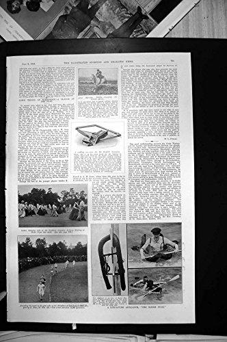La Stampa Antica di Tiro con l'arco della Boa di Sleigh Rifornisce lo Sport Maratona Moose1910 di Salisbury Vienna - Boa Tiro