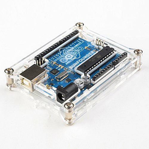 SunFounder-Uno-R3-Case-Gehuse-Hlle-Enclosure-New-Transparent-Gloss-Acrylic-Computer-Box-Compatible-with-Arduino-UNO-R3