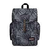 Eastpak Austin Zaino, 42 cm, 18 L, Nero (Leaves Black)