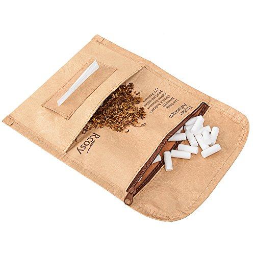 Lilily_store Estuche para Tabaco - Calidad Bolsa de Tabaco del único Papel de Tyvek con increíblemente Anti-Rasgado y característica Impermeable, Caja Unisex del Tabaco para el Uso Diario