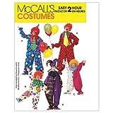 McCall's Patterns m6142Taille 2–4Enfant/Garçon/Fille/Femme/hommes/Teen Boys 'Clown de Costumes, Lot de 1, Blanc