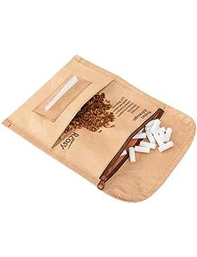 Lilily_store Estuche para tabaco - Calidad bolsa de tabaco del único papel de Tyvek con increíblemente anti-rasgado...