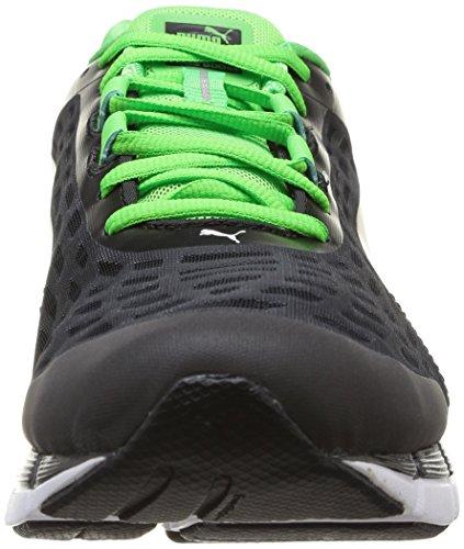 Puma Faas 600 V2, Herren Laufschuhe Training Schwarz (Black/Fluo Green)