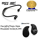 SAMSUNG Galaxy A7 Compatible Ceritfied Bluetooth wireless Headset With Micro SD Card slot compatible with Moto E (1st Gen)(Assorted Color) with FREE GIFT