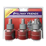 FELIWAY Friends - Anti Conflit pour Chat - Pack de 3 Recharges - 3 x 48 ml