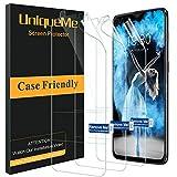 UniqueMe kompatibel mit Oneplus 6T Bildschirmschutzfolie, [3 Pack] [blasenfrei] HD TPU Schutzhülle mit Schutzfolie & voller Abdeckung Weiche Flexible Folie mit innovativer Fit Technologie