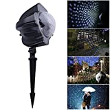 Ahyuan LED Snowfall light, Waterproof Snowflake Projector Lamp Designed for Wedding Birthday New Year stage,Halloween, Christmas Holiday, Garden Decoration With Remote Controller (Snowfall)