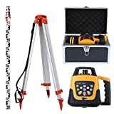 Ridgeyard Totally Automatic Green Beam Self Leveling Rotary Laser Level + 1.65 Aluminum